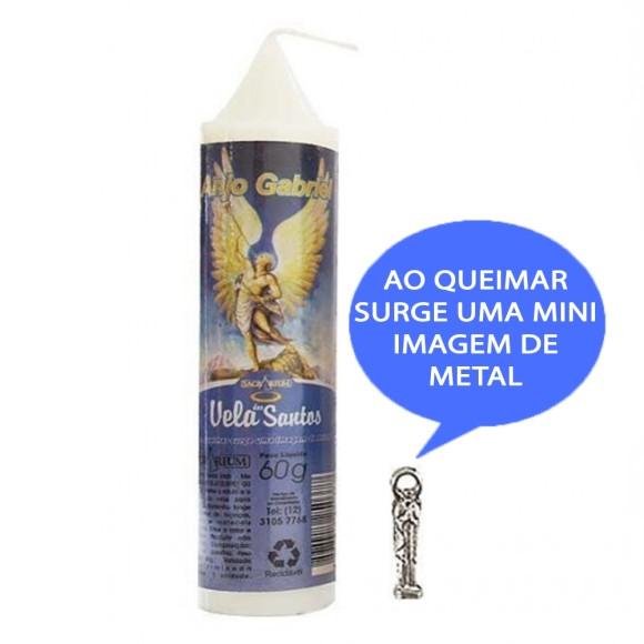 VE155143 - Vela São Gabriel Arcanjo c/ Santo de Bolso - 14x3cm