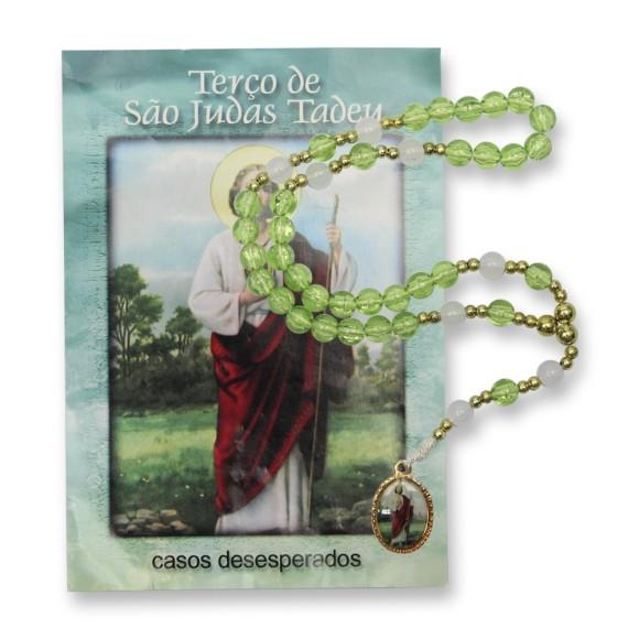 TE95406 - Terço c/ Oração São Judas Tadeu - 26cm