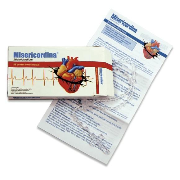 TE050130 - Caixa de Remédio Misericordina com Terço Plástico - 27cm