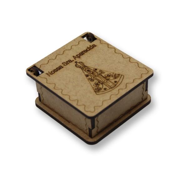 CXM75002 - Caixinha N. Sra. Aparecida MDF - 6,3x6,8cm