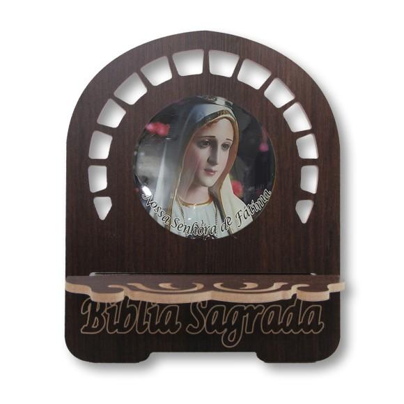 PB811020 - Porta Bíblia N. Sra. De Fátima MDF Resinado - 26x21,5cm