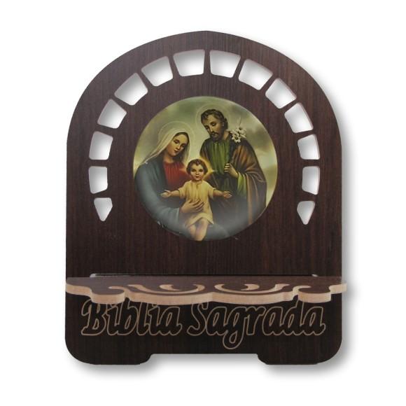 PB811800 - Porta Bíblia Sagrada Família MDF Resinado - 26x21,5cm