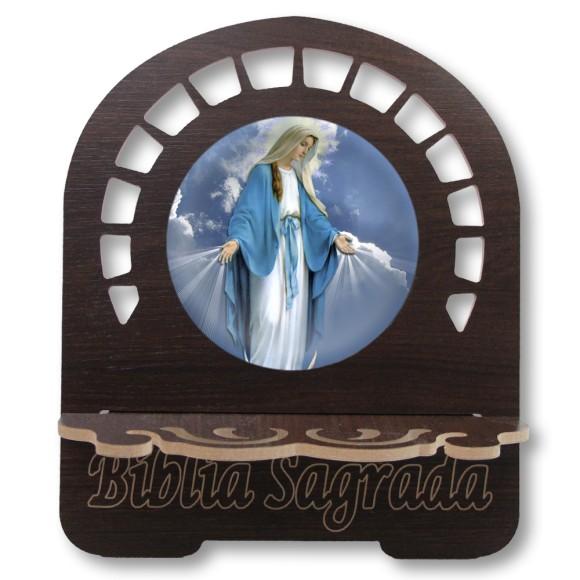 PB812010 - Porta Bíblia N. Sra. Das Graças MDF Resinado - 30,5x25,5cm