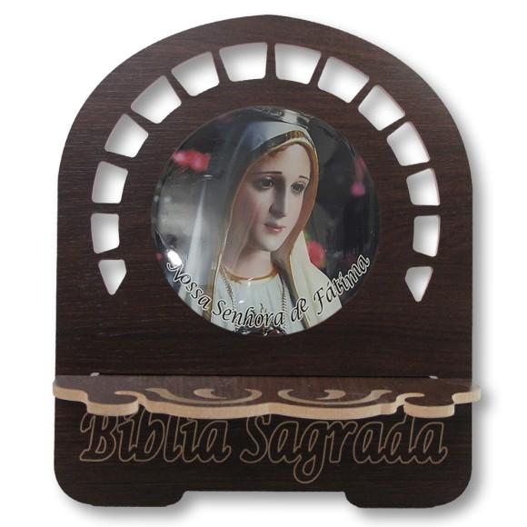 PB812020 - Porta Bíblia N. Sra. De Fátima MDF Resinado - 30,5x25,5cm