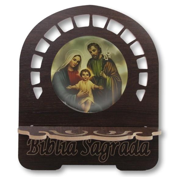 PB812800 - Porta Bíblia Sagrada Família MDF Resinado - 30,5x25,5cm