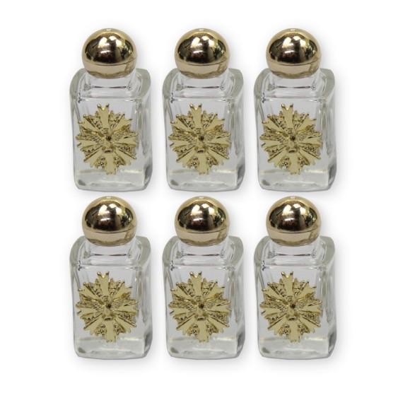 GF75156P6 - Garrafinha Divino Espírito Santo Dourado c/ 6un. - 6x2,5cm