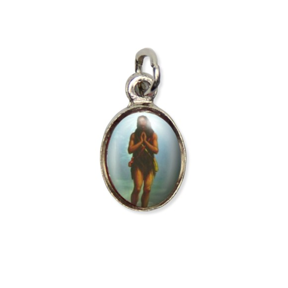 MD123414P10 - Medalha Santo Onofre Pícula c/ Cruz Níquel c/ 10un. - 1,8x1cm