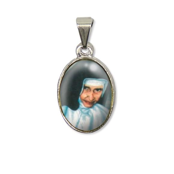 MD125002P2 - Medalha Santa Dulce dos Pobres (Irmã Dulce) PX Níquel c/ 2un. - 3X1,5cm