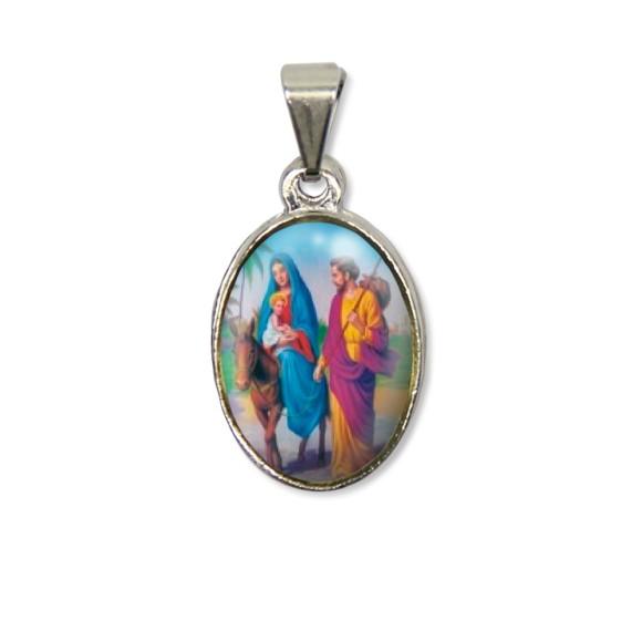 MD125020P2 - Medalha N. Sra. Do Desterro PX Níquel c/ 2un. - 3X1,5cm