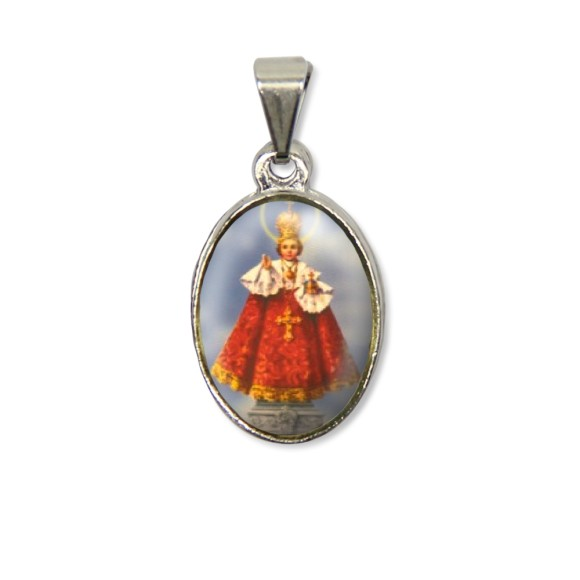 MD125401P2 - Medalha Jesus de Praga PX Níquel c/ 2un. - 3X1,5cm
