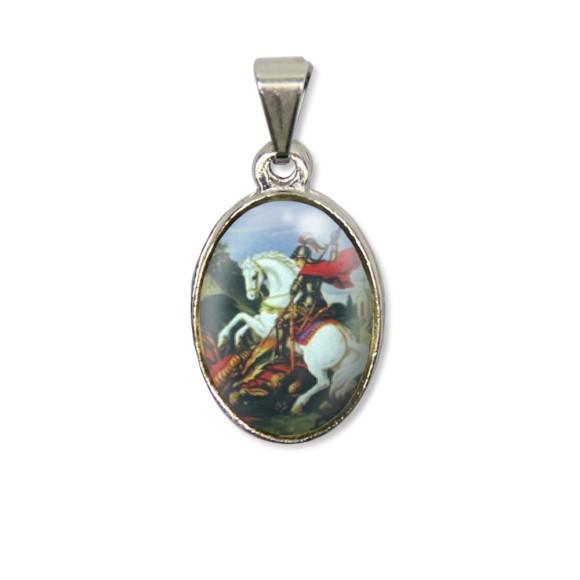 MD125426P2 - Medalha São Jorge PX Níquel c/ 2un. - 3X1,5cm