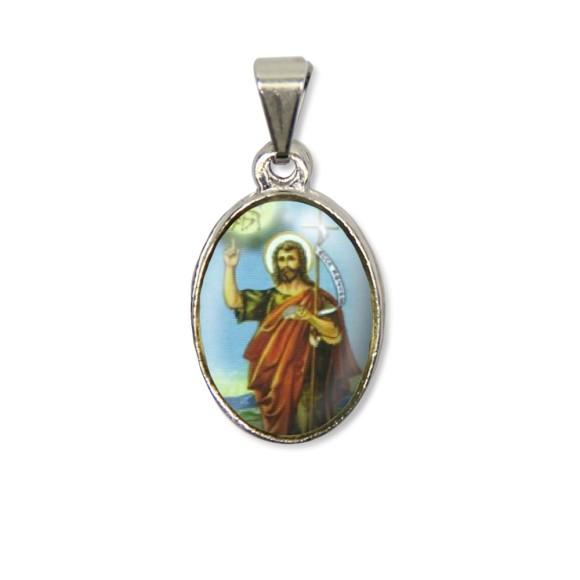 MD125436P2 - Medalha São João Batista PX Níquel c/ 2un. - 3X1,5cm