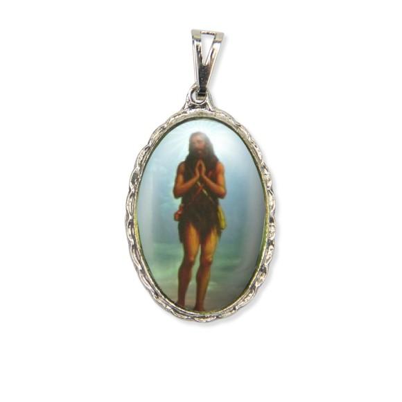 MD128423 - Medalha Santo Onofre Rendada Níquel - 5x2,5cm