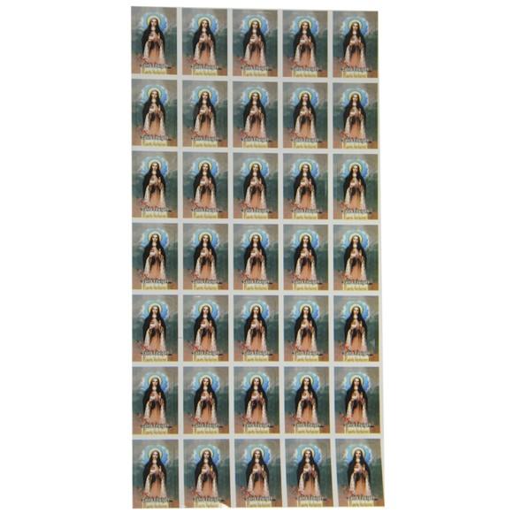 AD11605 - Adesivos de Santa Edwiges (Cartela c/ 35un.) - 2,5x1,8cm