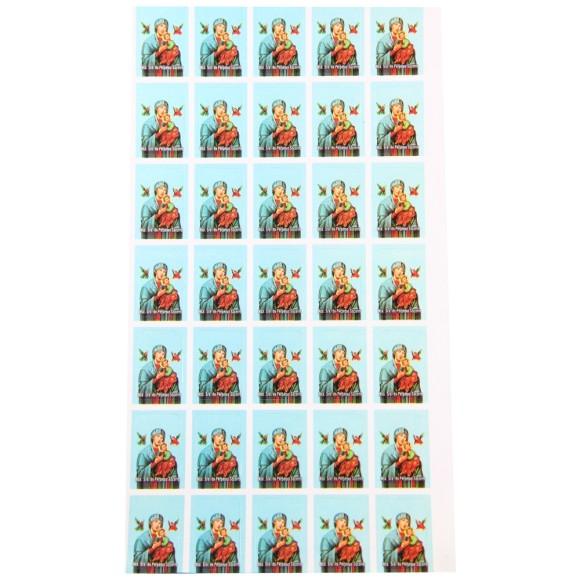 AD11610 - Adesivos de N. Sra. Do Perpétuo Socorro (Cartela c/ 35un.) - 2,5x1,8cm