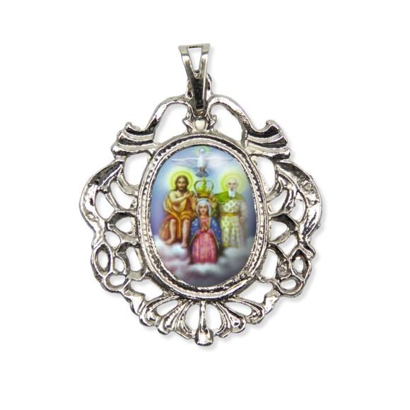 MD129451 - Medalha Divino Pai Eterno Camafeu Níquel - 5,5x4,2cm