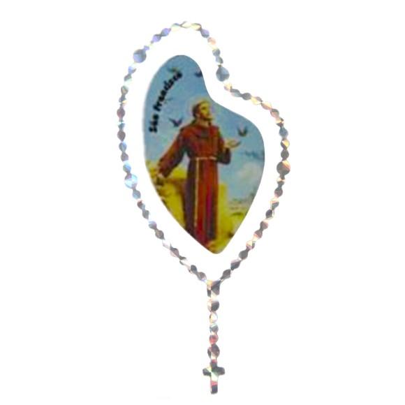 AD1501407 - Adesivo Terço São Franscisco de Assis - 12x6cm