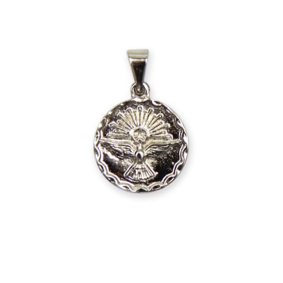 MD480040P5 - Medalha Divino Espírito Santo Níquel c/ 5un. - 2x1,8cm