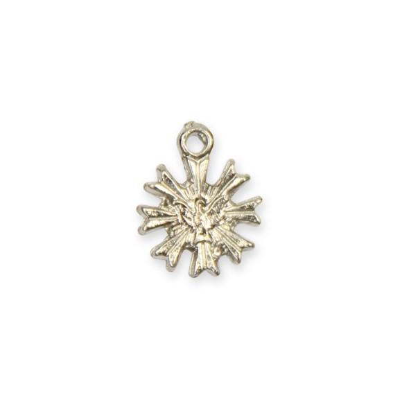 PG480001P20 - Pingente Divino Espírito Santo Metal Níquel c/ 20un. - 1,2x1cm