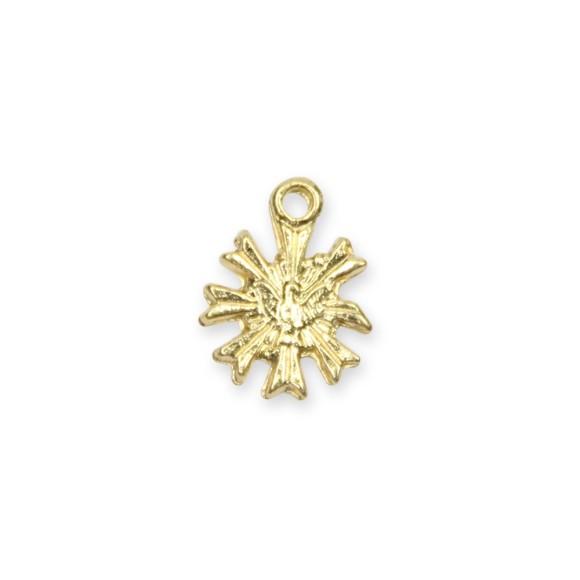 PG480002P20 - Pingente Divino Espírito Santo Metal Dourado c/ 20un. - 1,2x1cm