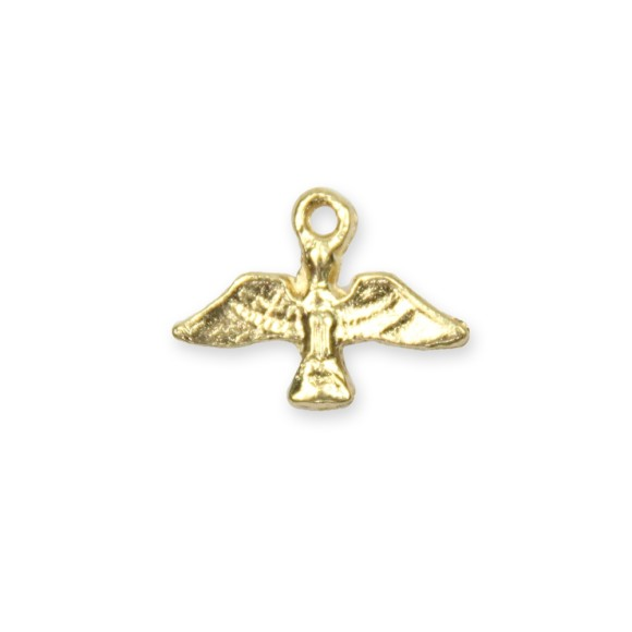 PG480033P10 - Pingente Divino Espírito Santo Metal Dourado c/ 12un. - 1,5x1,7cm