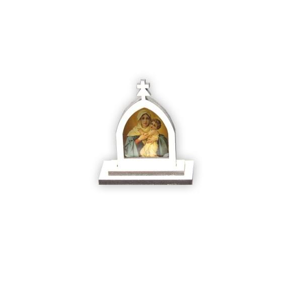 CP81009 - Capela Mãe Rainha MDF Branca - 6x5,5cm