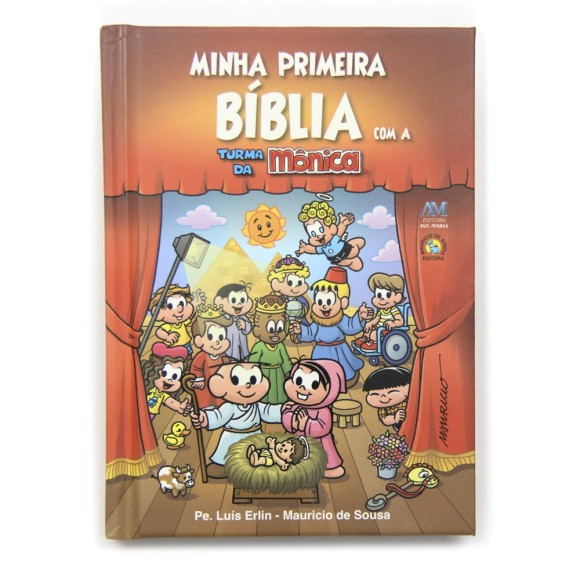 BI1681 - Minha Primeira Bíblia com a Turma Da Mônica - 23,5x16,5cm