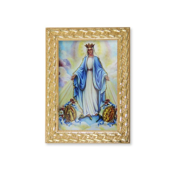 QD91009 - Quadro Moldura N. Sra. Das Graças Medalha Milagrosa - 13x18cm