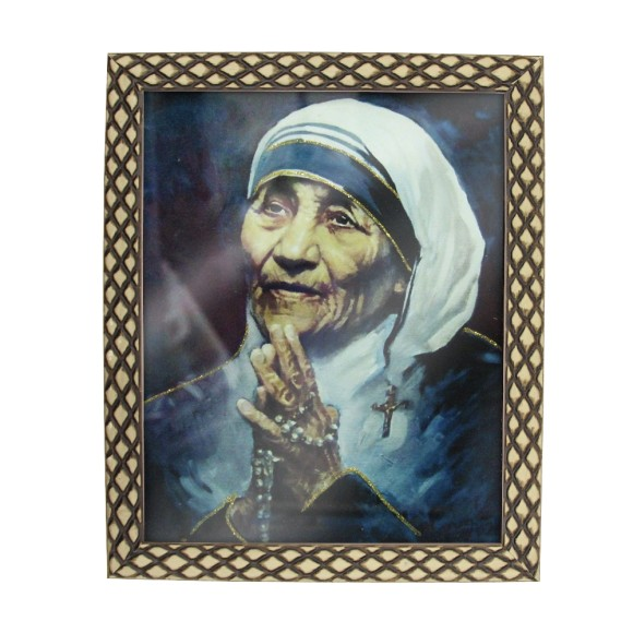 QD91306 - Quadro Moldura Madre Teresa de Calcutá - 23x28cm