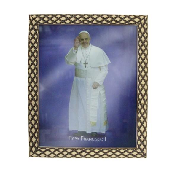 QD91412 - Quadro Moldura Papa Francisco - 23x28cm