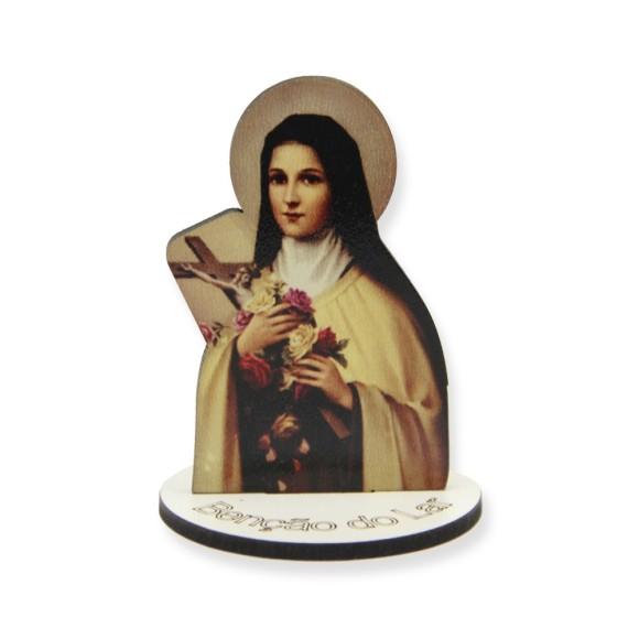 AO291006 - Pedestal Santa Terezinha das Rosas MDF - 7x5cm
