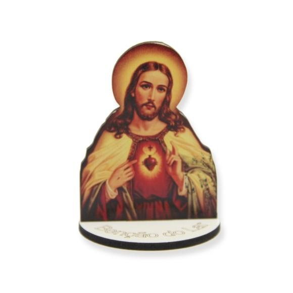 AO291102 - Pedestal Sagrado Coração de Jesus MDF - 7,5x5,3cm