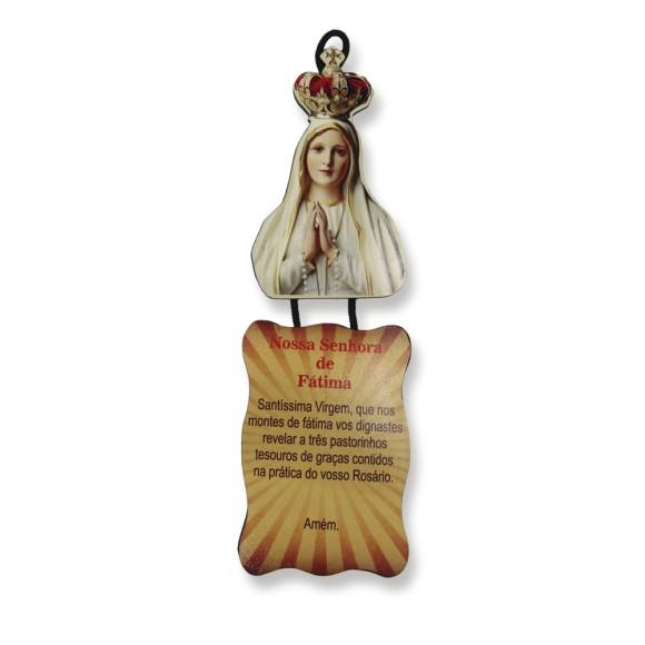 MO1410007 - Móbile N. Sra. De Fátima c/ Oração - 22x7cm