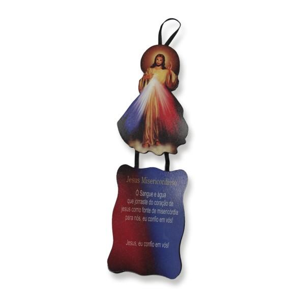 MO1410051 - Móbile Jesus Misericordioso c/ Oração - 22x7cm