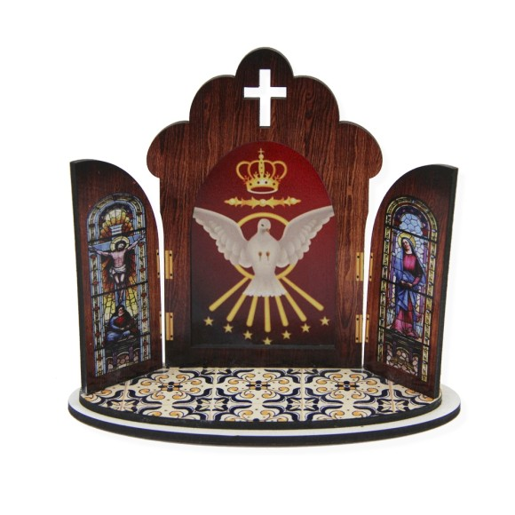 OT811180 - Oratório Divino Espírito Santo  MDF - 11x13cm