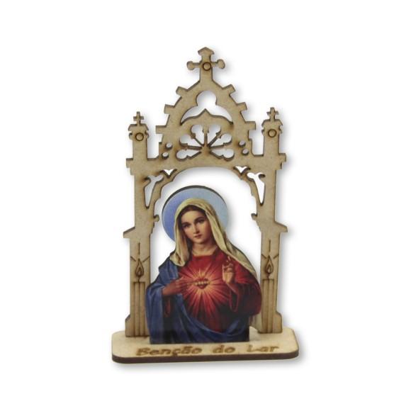 CP81400 - Capela Sagrado Coração de Maria MDF - 12,5x7,5cm