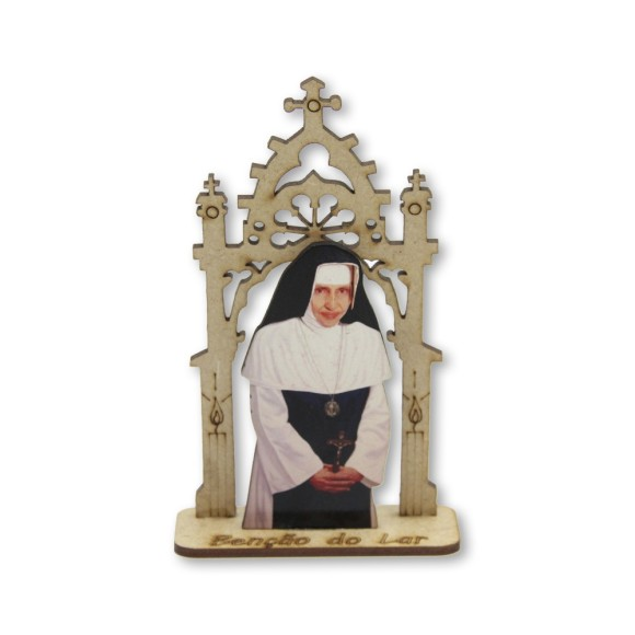 CP81401 - Capela Santa Dulce dos Probres (Irmã Dulce) MDF - 12,5x7,5cm