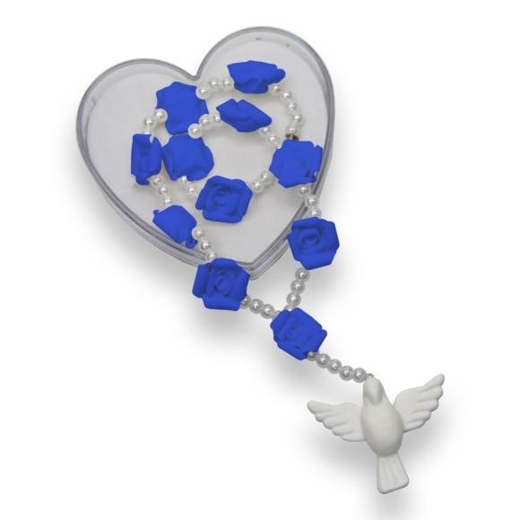 DZ410124 - Dezena Artesanal Divino Espírito Santo Biscuit Azul Royal c/ Fecho - 24x5cm