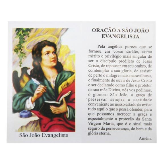 OG141484P100 - Oração São João Evangelista c/ 100un. - 10x6cm