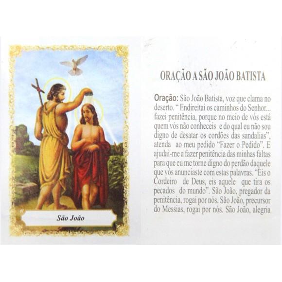OP141427P100 - Oração São João Batista c/ 100un. - 6x4cm