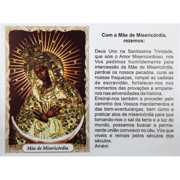 OG14095P100 - Oração Mãe de Misericódia c/ 100un. - 9,5x6,5cm