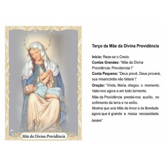 OG14033P100 - Oração Mãe da Divina Providência c/ 100un. - 9,5x6,5cm